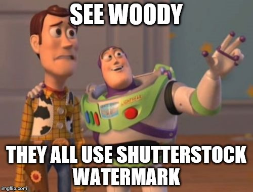 X, X Everywhere Meme | SEE WOODY THEY ALL USE SHUTTERSTOCK WATERMARK | image tagged in memes,x,x everywhere,x x everywhere | made w/ Imgflip meme maker