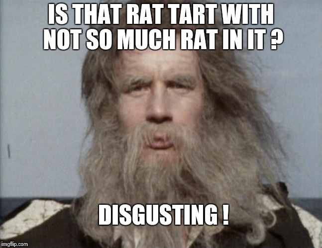 IS THAT RAT TART WITH NOT SO MUCH RAT IN IT ? DISGUSTING ! | image tagged in monty python | made w/ Imgflip meme maker