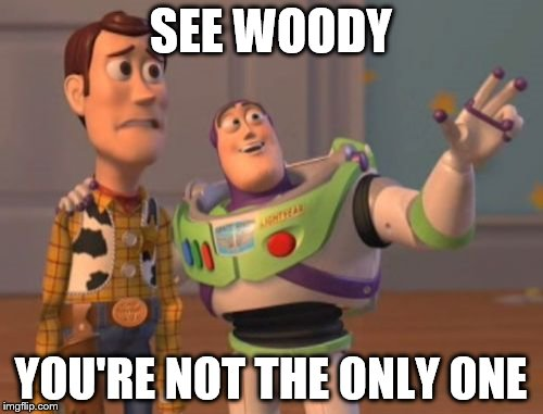 X, X Everywhere Meme | SEE WOODY YOU'RE NOT THE ONLY ONE | image tagged in memes,x,x everywhere,x x everywhere | made w/ Imgflip meme maker