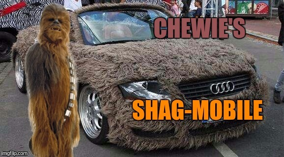 Darth non Sequitur  | E | image tagged in chewbacca,star wars,cars,dog week | made w/ Imgflip meme maker