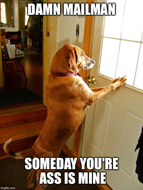 DAMN MAILMAN SOMEDAY YOU'RE ASS IS MINE | made w/ Imgflip meme maker