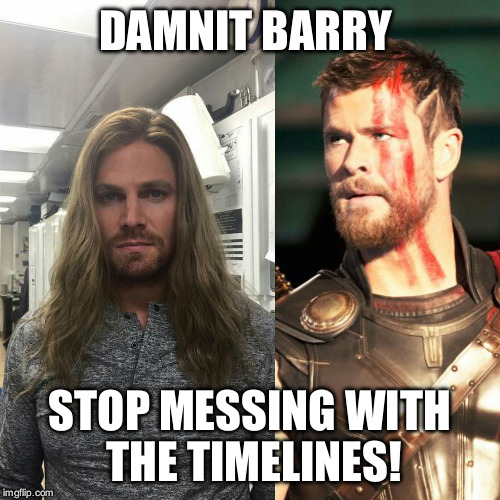 DAMNIT BARRY STOP MESSING WITH THE TIMELINES! | image tagged in olliethor | made w/ Imgflip meme maker