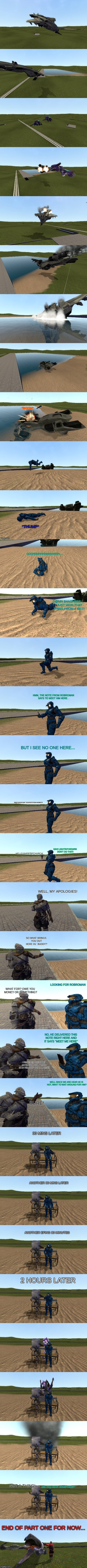 A comic for two certain Imgflippers Pt.1 | *BOOM* DID YOU HEAR SOMETHING? *THUMP* OOOHHHHHHHHHHHHHH.... D@MN BANSHEES.... I JUST WON THAT THING FROM A BET! HMM, THE NOTE FROM ROBROMAN | image tagged in comic,gmod,ghostofchurch,lightinthedark,graboid,creepy starlight glimmer | made w/ Imgflip meme maker