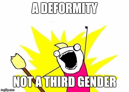 X All The Y Meme | A DEFORMITY NOT A THIRD GENDER | image tagged in memes,x all the y | made w/ Imgflip meme maker