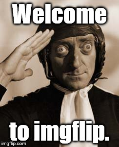 Copy that! | Welcome to imgflip. | image tagged in copy that | made w/ Imgflip meme maker