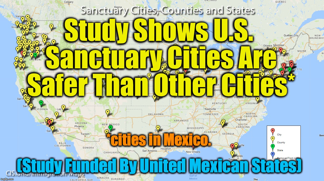 Image tagged in sanctuary cities,mexico,united states - Imgflip