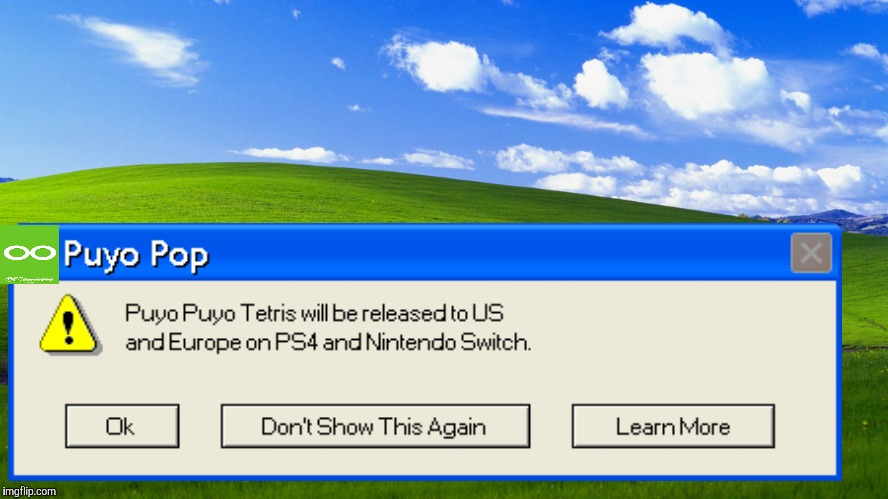 If Sega Brought Back Puyo Pop... (Special(Windows XP)) | image tagged in windows xp,puyo puyo,sega,memes | made w/ Imgflip meme maker