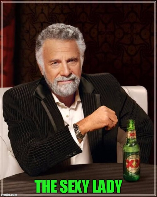 The Most Interesting Man In The World Meme | THE SEXY LADY | image tagged in memes,the most interesting man in the world | made w/ Imgflip meme maker