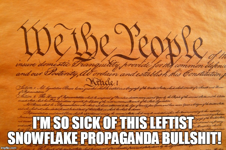 ALT-RIGHTS | I'M SO SICK OF THIS LEFTIST SNOWFLAKE PROPAGANDA BULLSHIT! | image tagged in leftists,snowflake,propaganda,alt-right,alt-left,penis | made w/ Imgflip meme maker