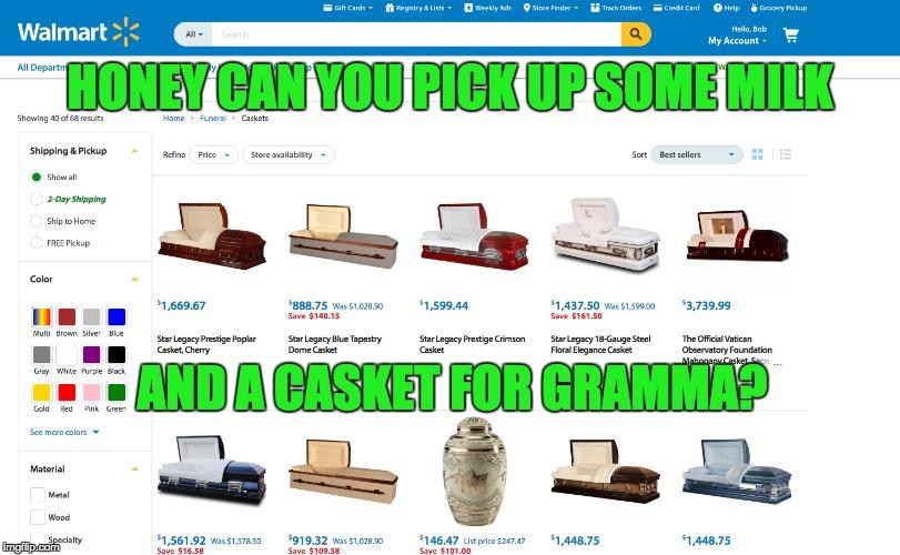 Yep  They have everything on walmart com  - Imgflip