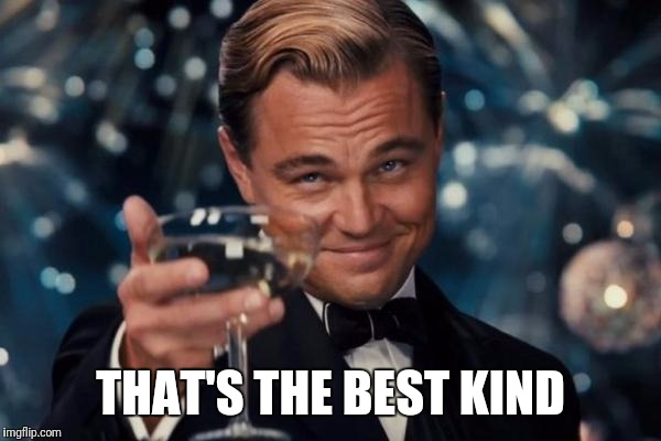 Leonardo Dicaprio Cheers Meme | THAT'S THE BEST KIND | image tagged in memes,leonardo dicaprio cheers | made w/ Imgflip meme maker