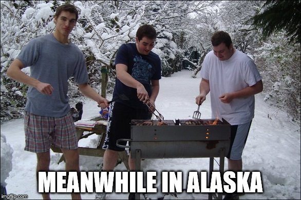 MEANWHILE IN ALASKA | image tagged in alaska | made w/ Imgflip meme maker