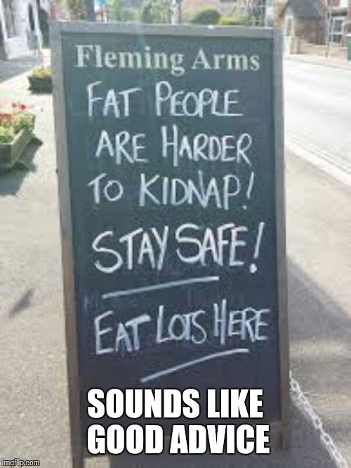 Sounds like good advice | SOUNDS LIKE GOOD ADVICE | image tagged in funny signs,memes | made w/ Imgflip meme maker