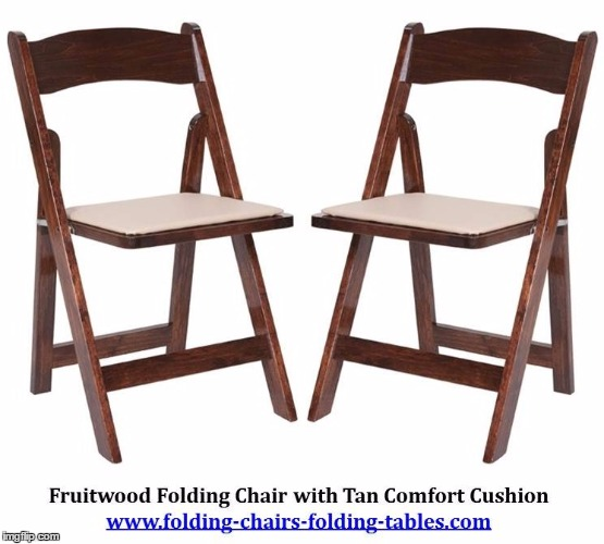 fruitwood folding chair with tan comfort cushion imgflip