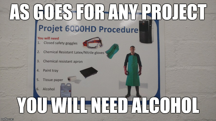 Project 6000HD | AS GOES FOR ANY PROJECT YOU WILL NEED ALCOHOL | image tagged in memes,alcohol,project | made w/ Imgflip meme maker