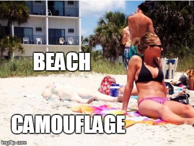 BEACH CAMOUFLAGE | made w/ Imgflip meme maker