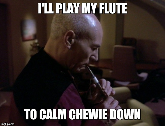 I'LL PLAY MY FLUTE TO CALM CHEWIE DOWN | made w/ Imgflip meme maker