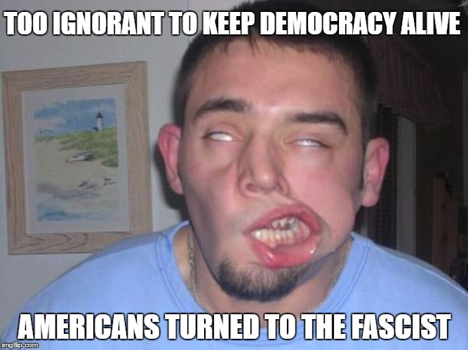 """Too Ignorant To Keep Democracy Alive"" 