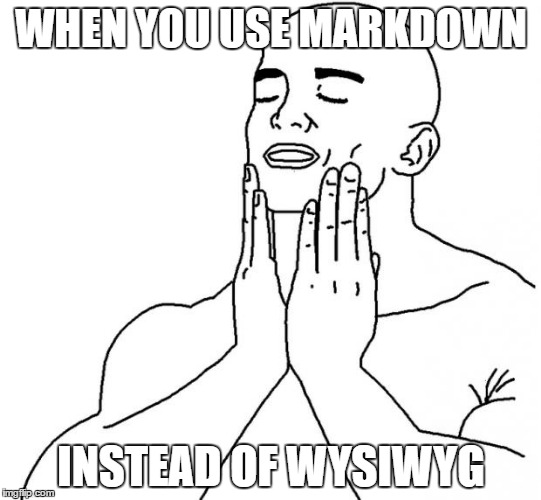 When you use markdown
