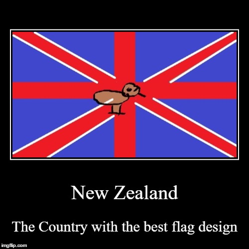 New Zealand | The Country with the best flag design | image tagged in funny,demotivationals | made w/ Imgflip demotivational maker