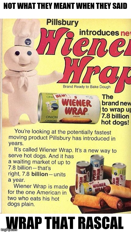 NOT WHAT THEY MEANT WHEN THEY SAID WRAP THAT RASCAL | made w/ Imgflip meme maker
