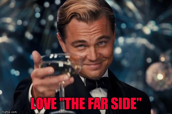 "Leonardo Dicaprio Cheers Meme | LOVE ""THE FAR SIDE"" 