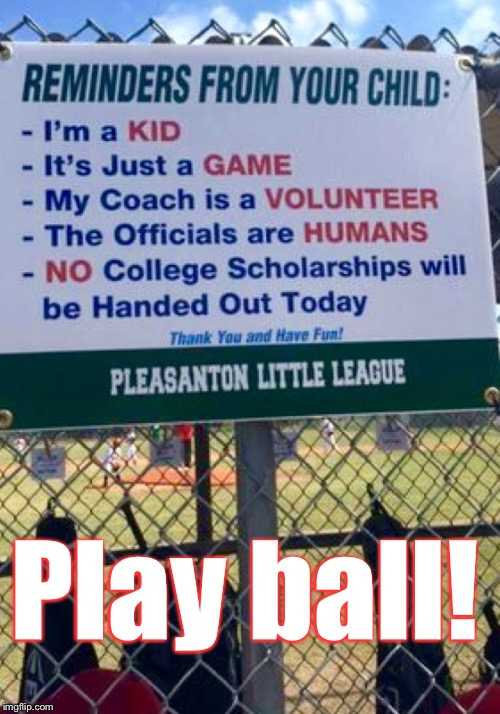 Opening Day's Tomorrow! Good Luck To All Your Teams! | Play ball! | image tagged in memes,baseball | made w/ Imgflip meme maker