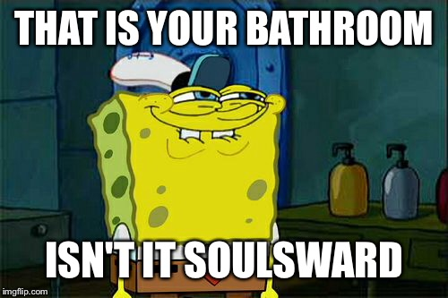 Dont You Squidward Meme | THAT IS YOUR BATHROOM ISN'T IT SOULSWARD | image tagged in memes,dont you squidward | made w/ Imgflip meme maker