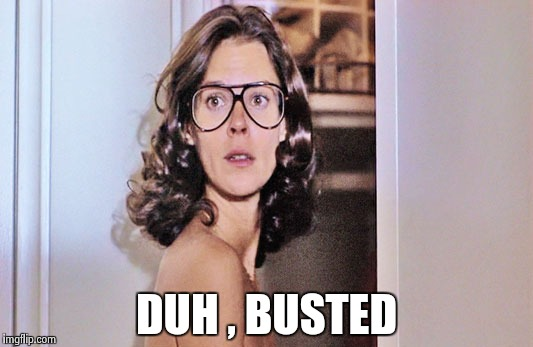 Jobeth Williams | DUH , BUSTED | image tagged in jobeth williams | made w/ Imgflip meme maker
