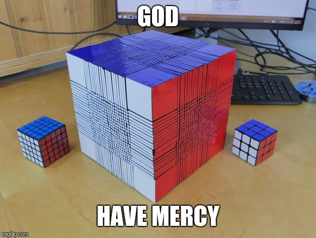 The mother of all Rubik's cubes. God have mercy.