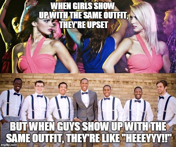 Image tagged in same outfits - Imgflip