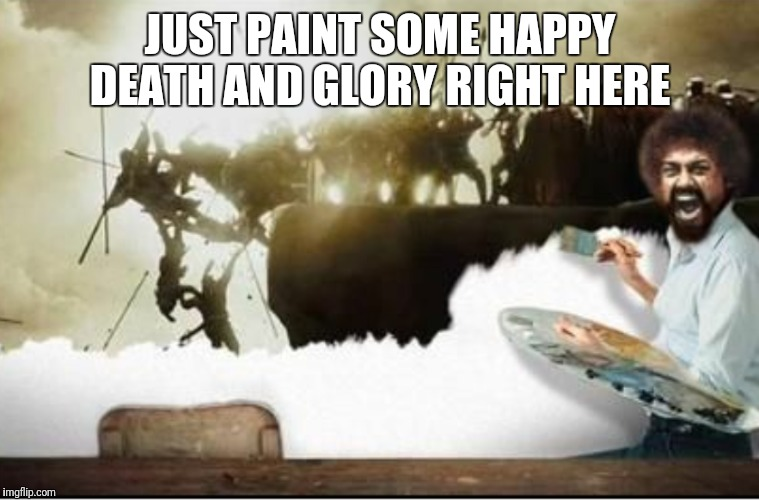 "King Leonidas Ross: ""THIS IS A HAPPY PAINTING."" Bob Ross Week April 3-9 A Lafonso Event  