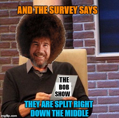 Maury Lie Detector Meme | AND THE SURVEY SAYS THEY ARE SPLIT RIGHT DOWN THE MIDDLE BOB THE SHOW | image tagged in memes,maury lie detector | made w/ Imgflip meme maker