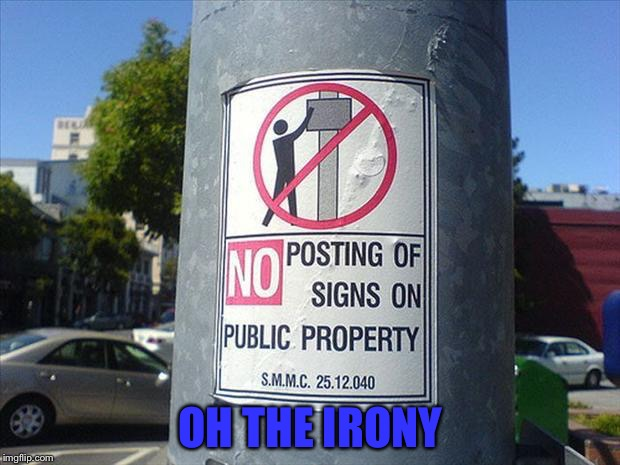 Irony... It Is Around Us All | OH THE IRONY | image tagged in memes,funny,irony | made w/ Imgflip meme maker