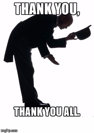 Thank you bow | . | image tagged in thank you bow | made w/ Imgflip meme maker