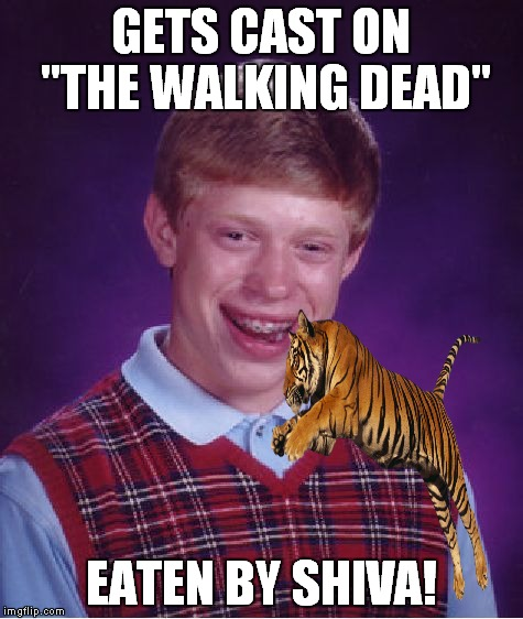 "Thanks to JenniferPotcher for the idea. See her original in the comments. | GETS CAST ON ""THE WALKING DEAD"" EATEN BY SHIVA! 