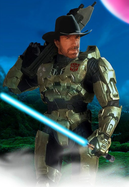 Jedi Master Chief Chuck Norris Prime Blank Template Imgflip