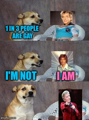 1 IN 3 PEOPLE ARE GAY I'M NOT I AM | made w/ Imgflip meme maker