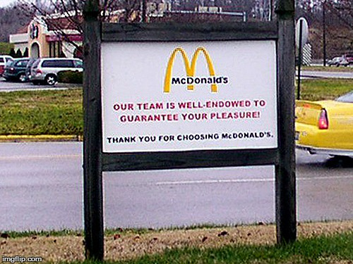 Not sure if I'm lovin' it... | D | image tagged in memes,mcdonalds | made w/ Imgflip meme maker