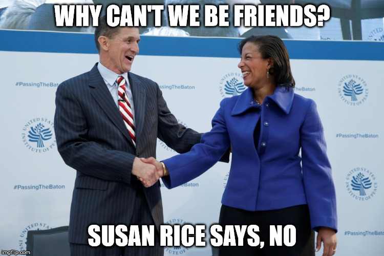 Susan Rice is not nice |  WHY CAN'T WE BE FRIENDS? SUSAN RICE SAYS, NO | image tagged in susan rice | made w/ Imgflip meme maker