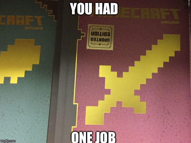 Image tagged in minecraft,you had one job - Imgflip