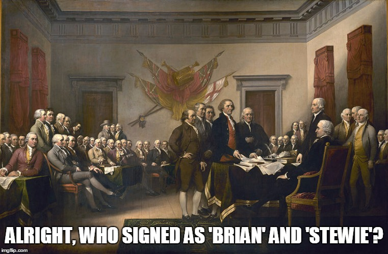 ALRIGHT, WHO SIGNED AS 'BRIAN' AND 'STEWIE'? | made w/ Imgflip meme maker