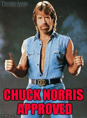 CHUCK NORRIS APPROVED | made w/ Imgflip meme maker