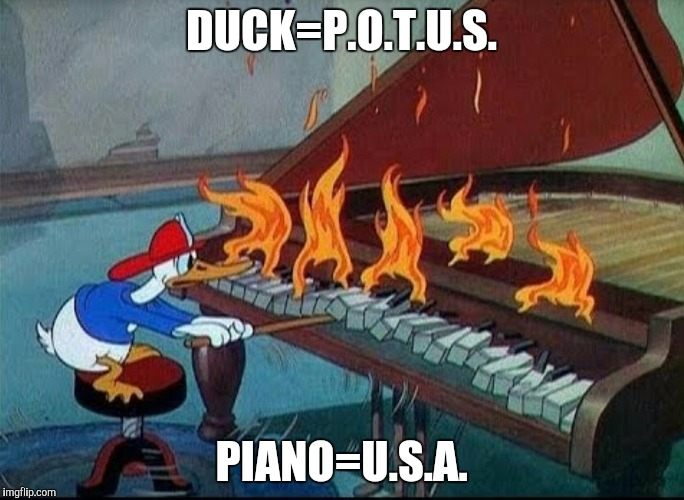 DUCK=P.O.T.U.S. PIANO=U.S.A. | made w/ Imgflip meme maker