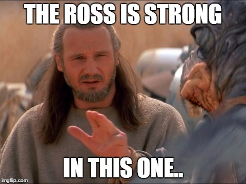 jedi mind tricks | THE ROSS IS STRONG IN THIS ONE.. | image tagged in jedi mind tricks | made w/ Imgflip meme maker