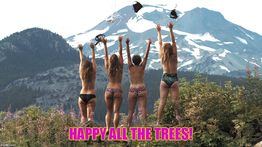 HAPPY ALL THE TREES! | made w/ Imgflip meme maker