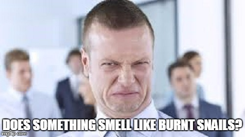 DOES SOMETHING SMELL LIKE BURNT SNAILS? | made w/ Imgflip meme maker