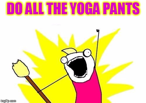 X All The Y Meme | DO ALL THE YOGA PANTS | image tagged in memes,x all the y | made w/ Imgflip meme maker