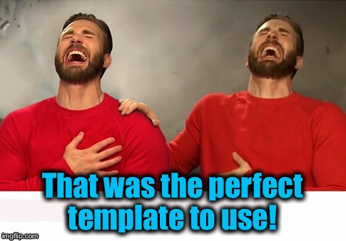 That was the perfect template to use! | made w/ Imgflip meme maker