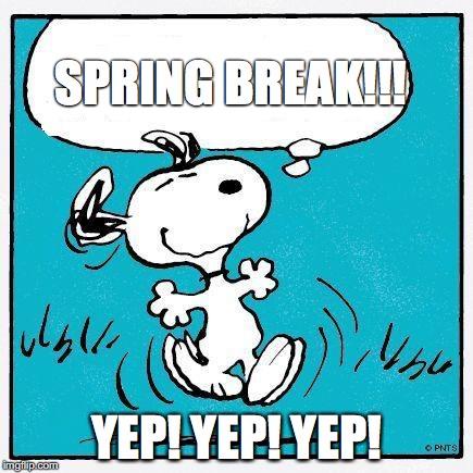 Snoopy celebrates Spring break